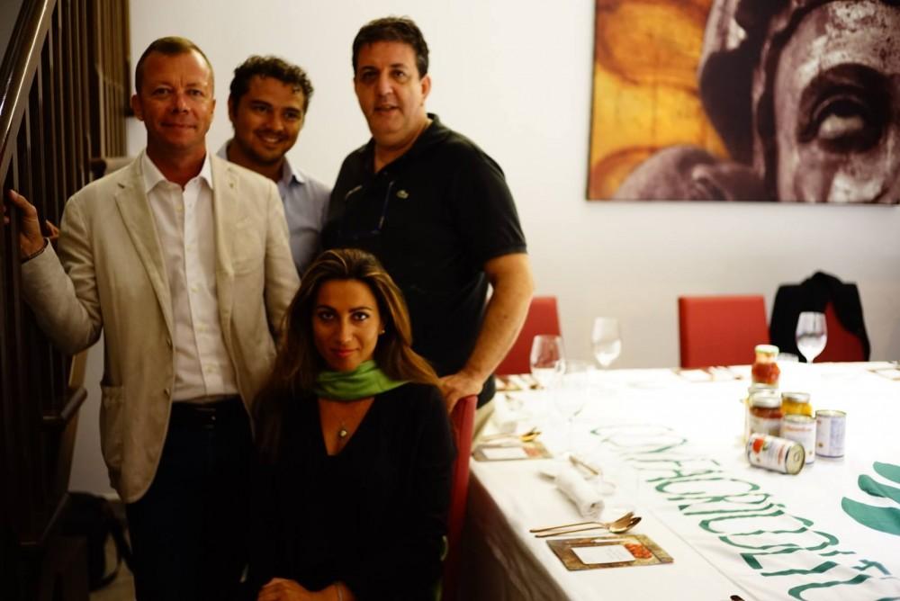 Con Francesca Marino (mysocialrecipe), Mario Nicastro (Op Mediterraneo) e Francesco Franzese (La Fiammante)