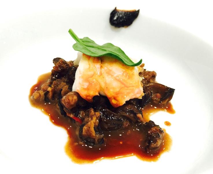 Umami di mare aragosta e lumache in potage con tamarindo di Luigi Taglienti