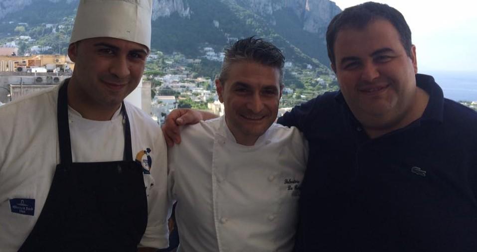 Gennaro Esposito e Salvatore La Ragione con Salvatore Donnarumma