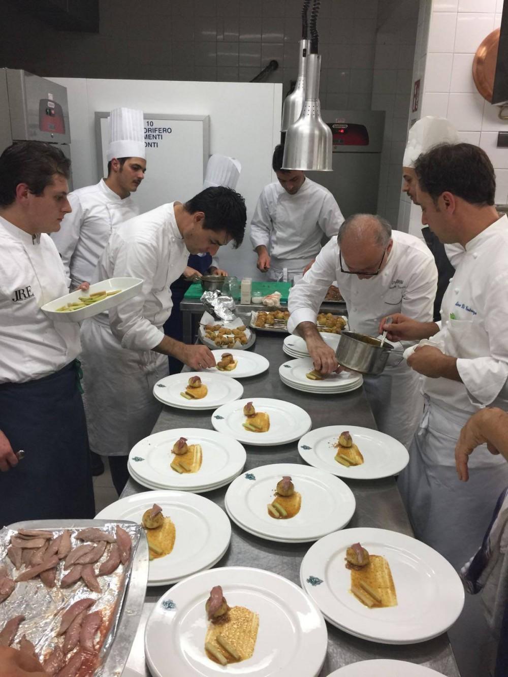 #ischiasafari, preparazione dei piatti