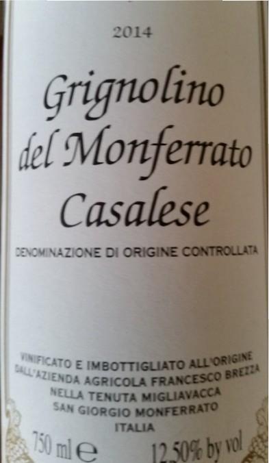 Tenuta Migliavacca – Grignolino del Monferrato Casalese 2014