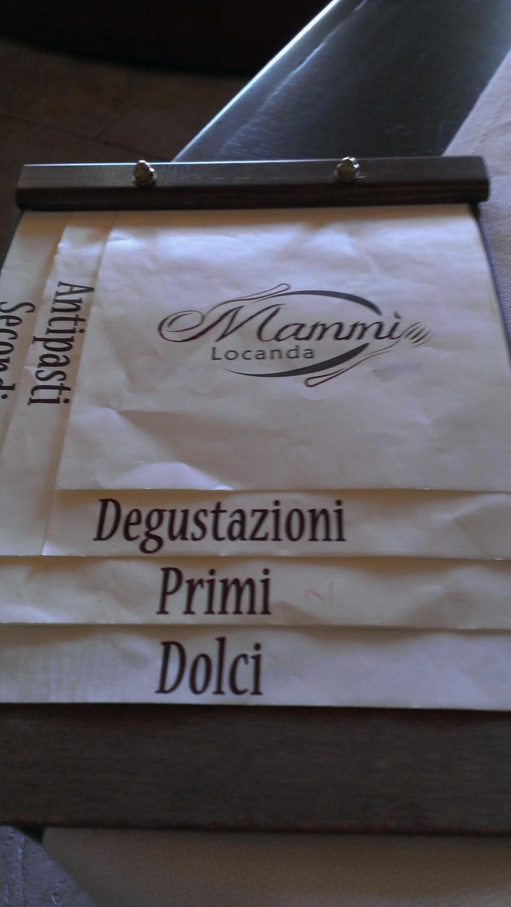 Locanda Mammi' menu'