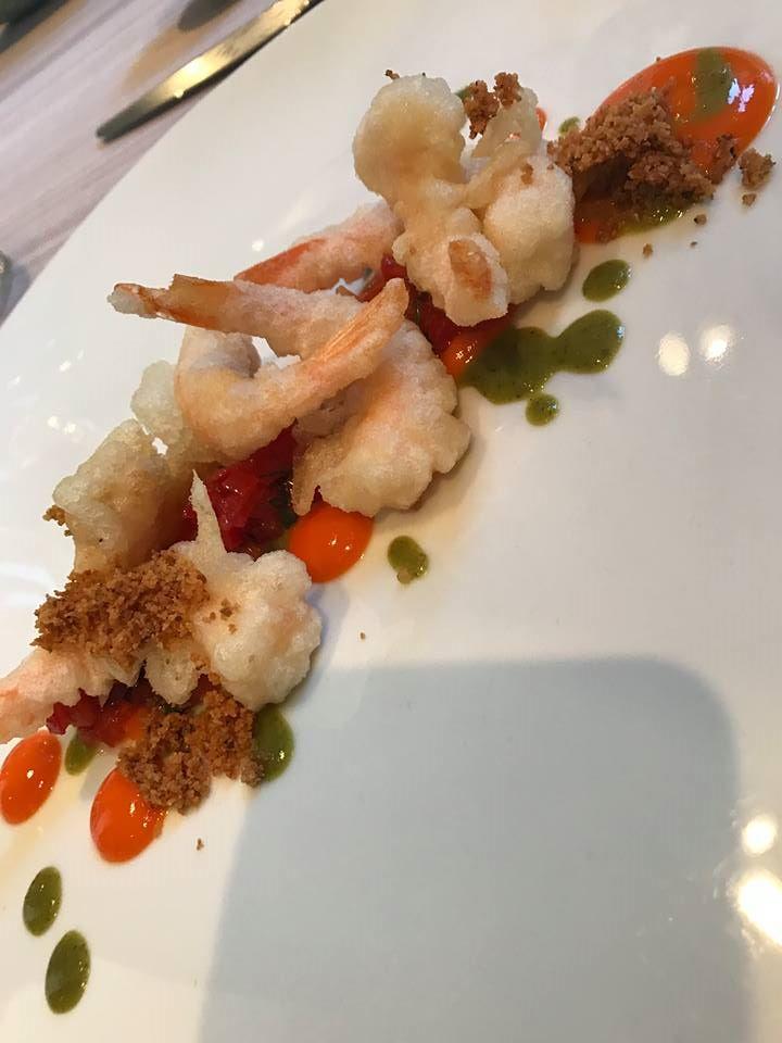 Marianna Vitale, tempura di gamberi e peperone
