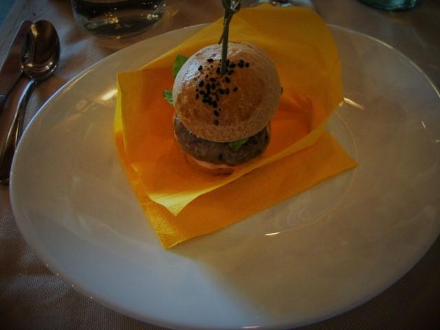 Locanda Mammi'  hamburger di agnello e maionese light mirtillo
