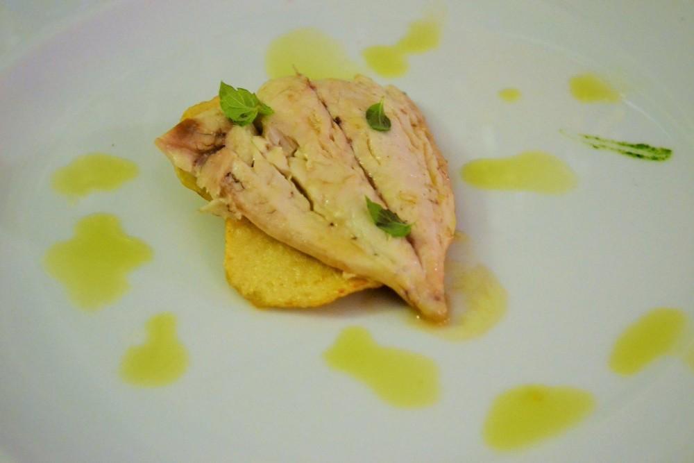 BACCO, Ricciola con patate
