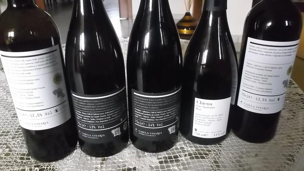 Controetichette Vini Casula Vinaria