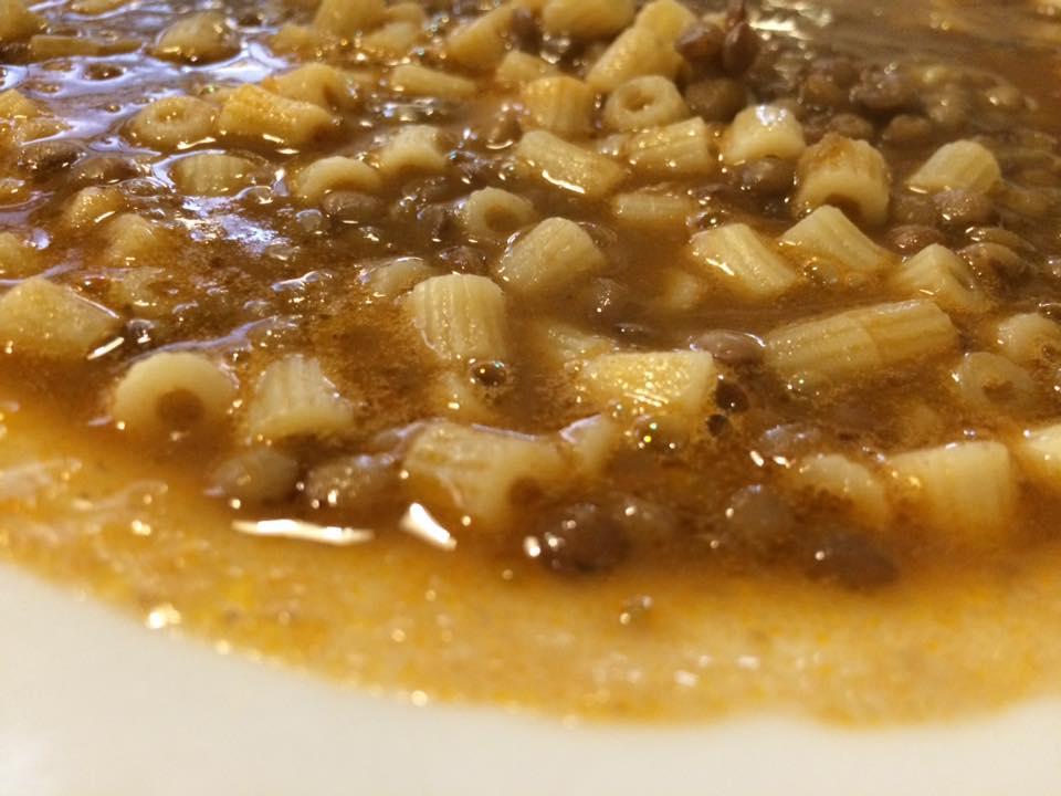 Da Romolo, pasta e lenticchie