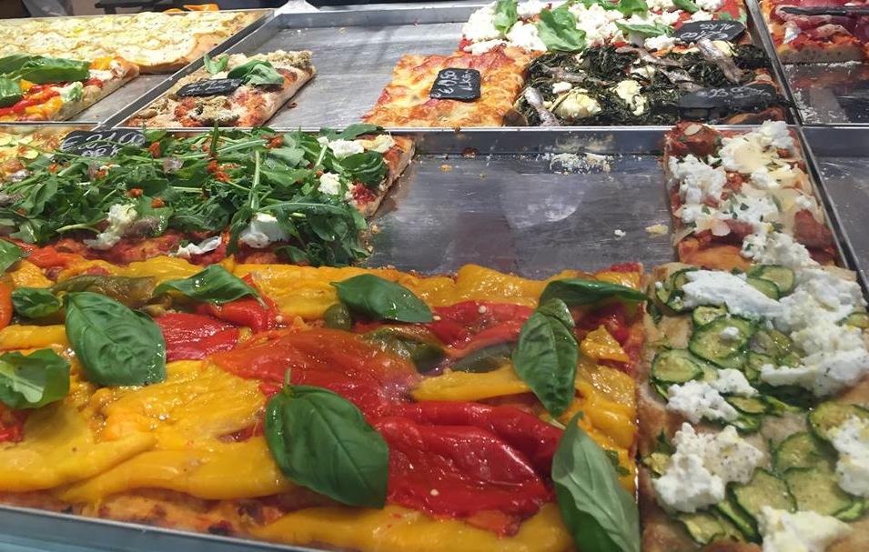 Gabrile Bonci a Termini, pizze al taglio