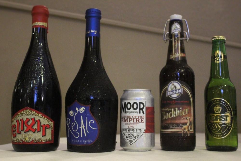 Master of Food Birra – Terre di Capua – alcune tipologie di birre degustate la prima serata