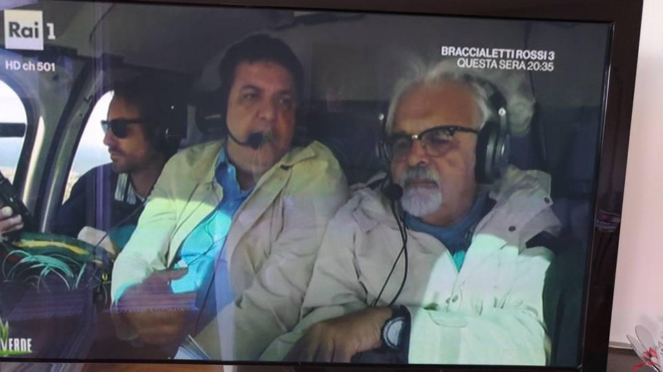 Linea Verde: in elicottero con Patrizio Roversi
