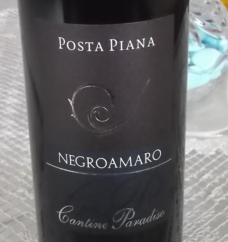 Negroamaro Posta Piana Puglia Igp 2014 Cantine Paradiso