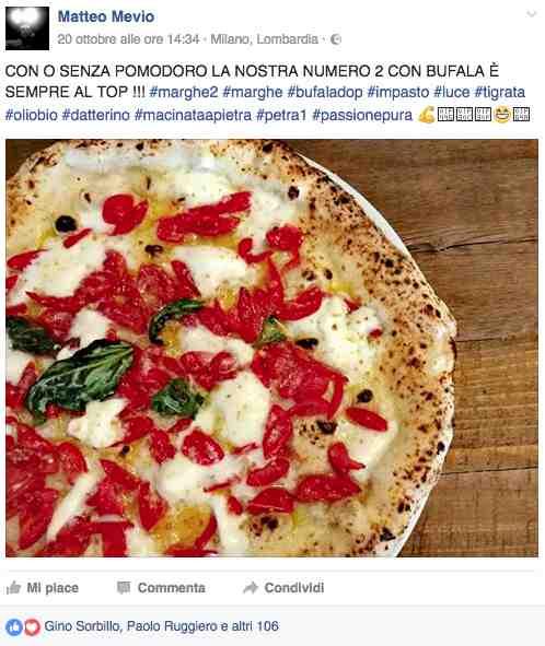 L'ultima pizza di Matteo Mevio