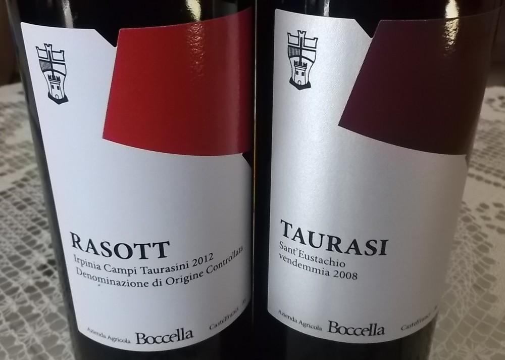 Rasott Irpinia Campi Taurasini 2012 Doc e Taurasi Sant'Eustachio Docg 2008 Boccella