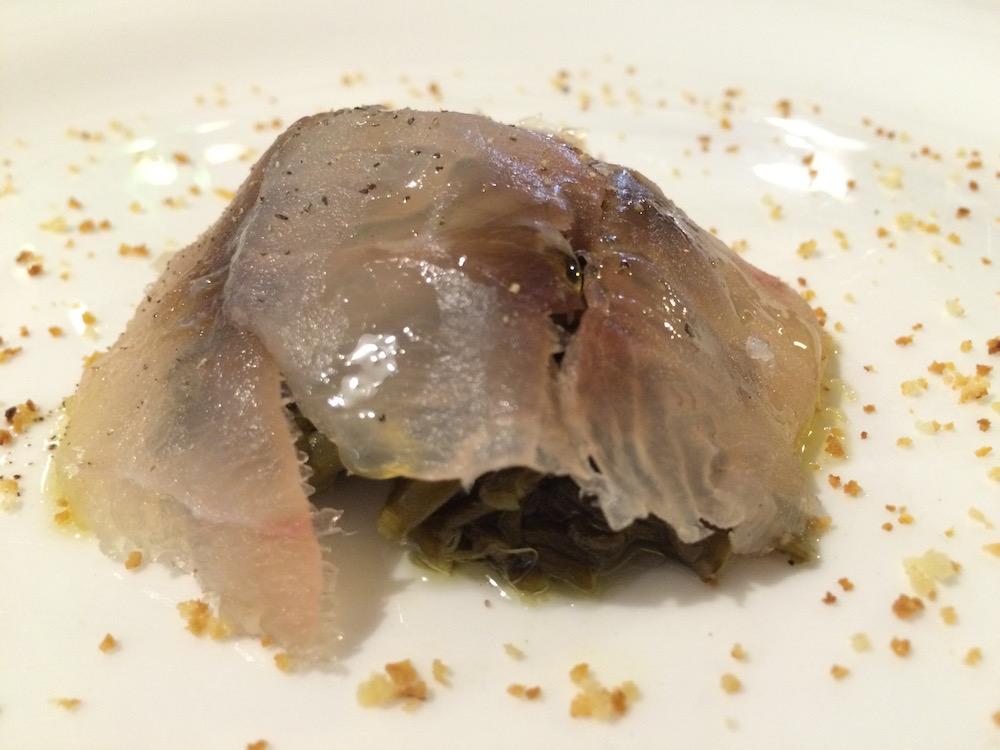 Ristorante Le Antiche Sere, Cefalo marinato con salicornia