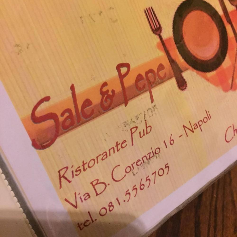 Sale e Pepe, il menu