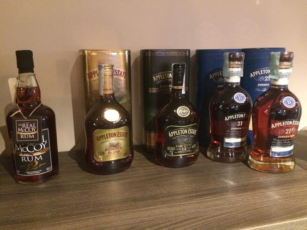 Selezione di Rum Appleton' Estate dalla Jamaica