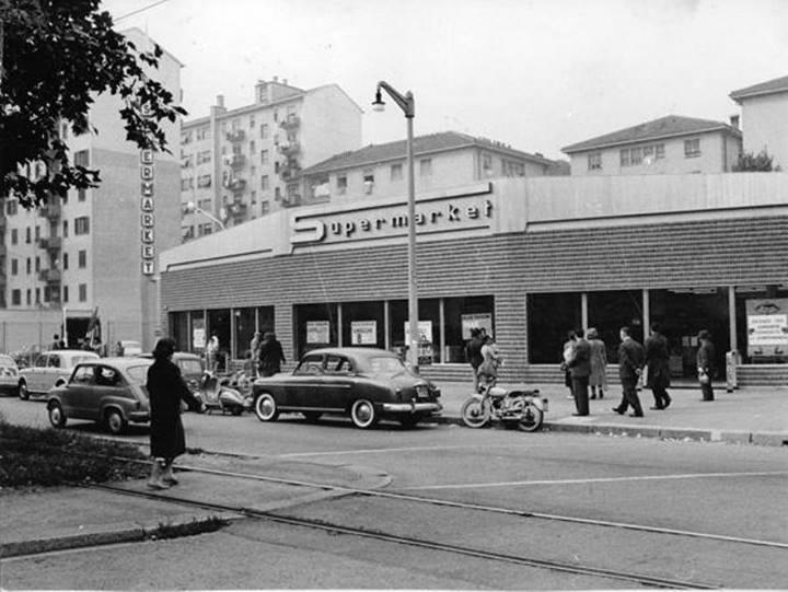 Uno dei primi Esselunga, Viale Zara a Milano