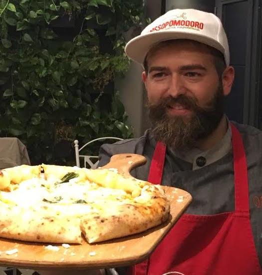 Vincenzo Capuano e la sua pizza allo zafferano