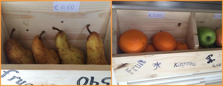 Zaza', la frutta in vendita al banco