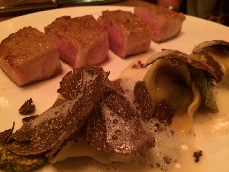 Les Climats, vitello e tortelli al tartufo