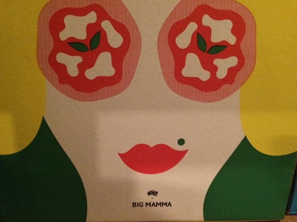 Big Mamma, il cartone per la pizza da asporto