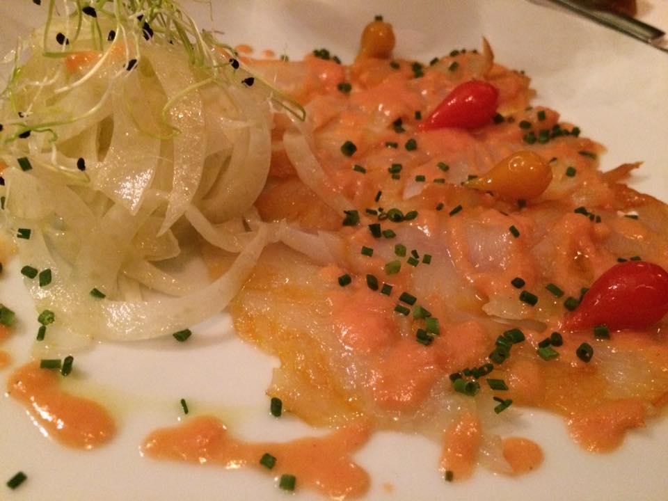 Le bistrot du Maquis, insalata di merluzzo con vinagrette al mango