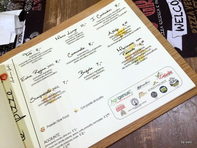 400 Gradi il menu