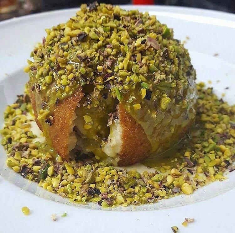 Hamburger  Delicious, Arancino al pistacchio