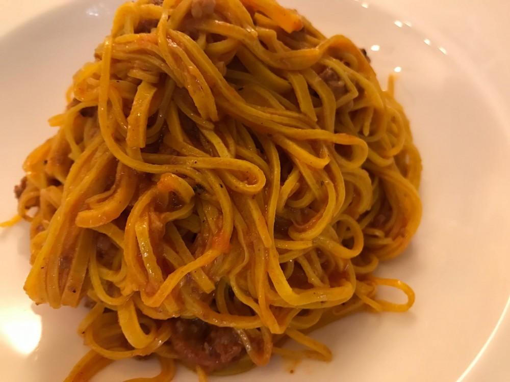 Osteria del Vicoletto, tajerin al ragu' di salciccia