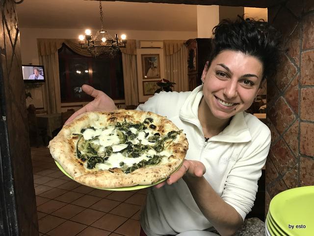 Antica Trattoria Innarone Daniele Vanore pizza carola riccia fiordilatte