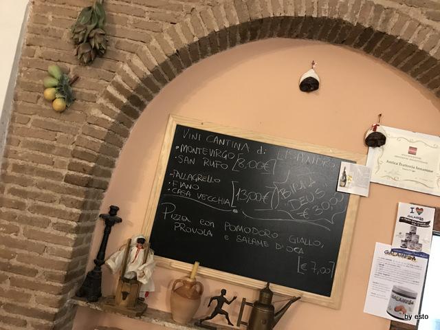 Antica Trattoria Innarone Daniele Vanore pizza del giorno