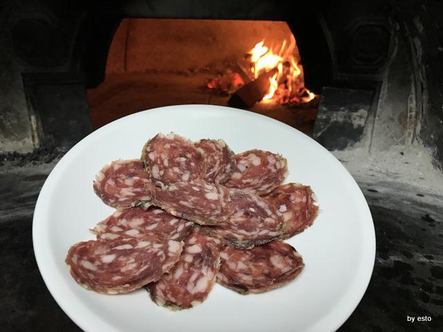 Antica Trattoria Innarone Daniele Vanore pizza ortiche e salame di oca