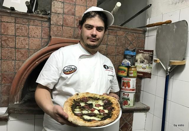 Antica Trattoria Innarone Daniele Vanore pizza ortiche e salame di nero casertano