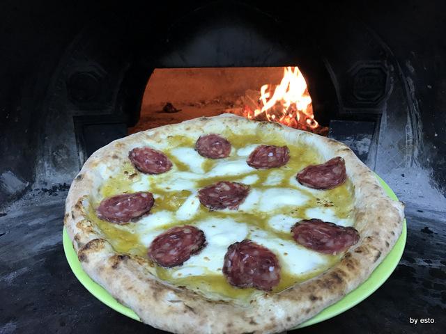 Antica Trattoria Innarone Daniele Vanore pizza pomodoro gialllo e salame di oca