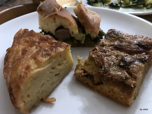 Antica Trattoria Innarone frittate casatiello con salsiccia e friarielli