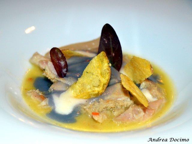 Braceria Bifulco ad Ottaviano. Trippa di Chianina con patate viola e gialle con pecorino