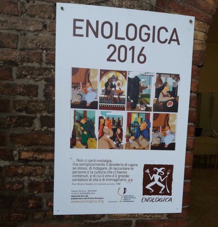 Enologica 2016, Cartello all'ingresso