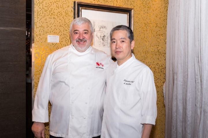 (From left) Chef BOMBANA Umberto & Chef Hiroyuki Saotome