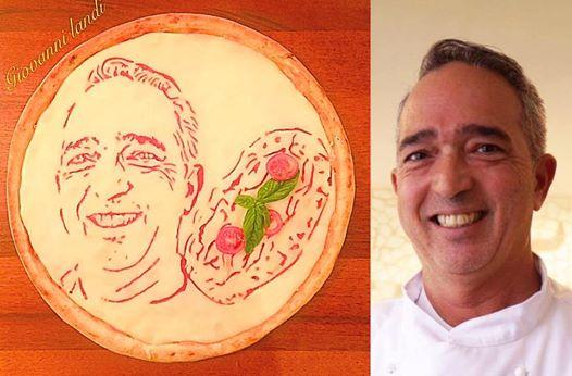 Giovanni Landi la pizza con Luigi Capuano
