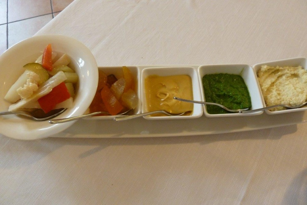 MOTTA, la giardiniera e le salse, cren, salsa verde, senape e mostarda