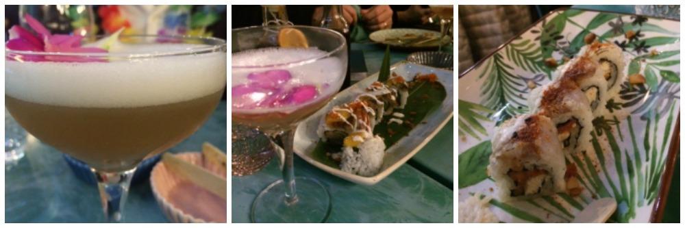 Mahalo, Cocktails e piatti