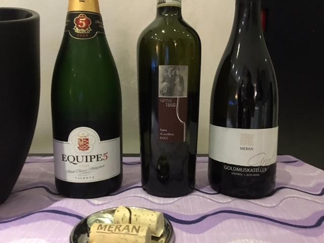 Ristorante Emozionando, Vini degustati