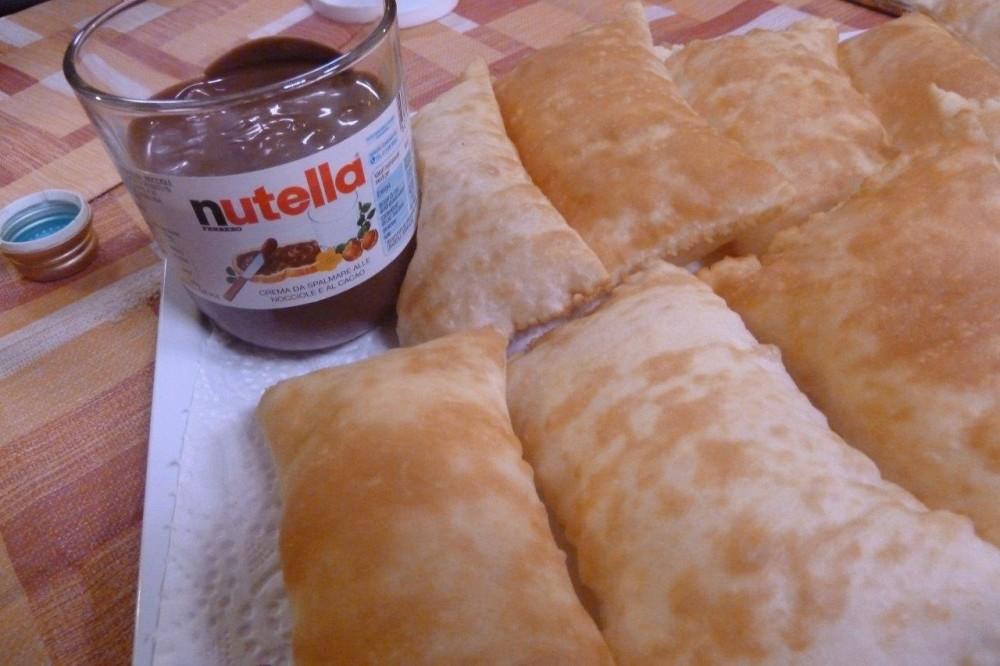 Trattoria della Pace, la torta fritta con la Nutella