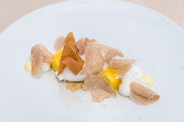 White Truffle Gelato. chantilly, nougat and crisp chestnuts