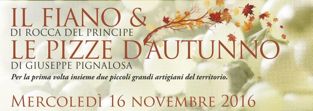 Il fiano & le pizze d'autunno 16 novembre