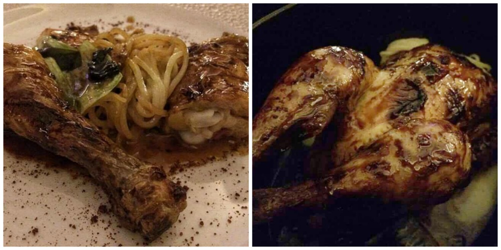 Imago, il pollo in due culture con vermicelli di patata