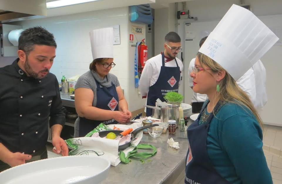 Le fasi della preparazione in cucina