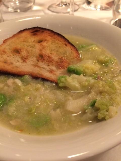 Il Falchetto, Brodo di arzilla e broccoli
