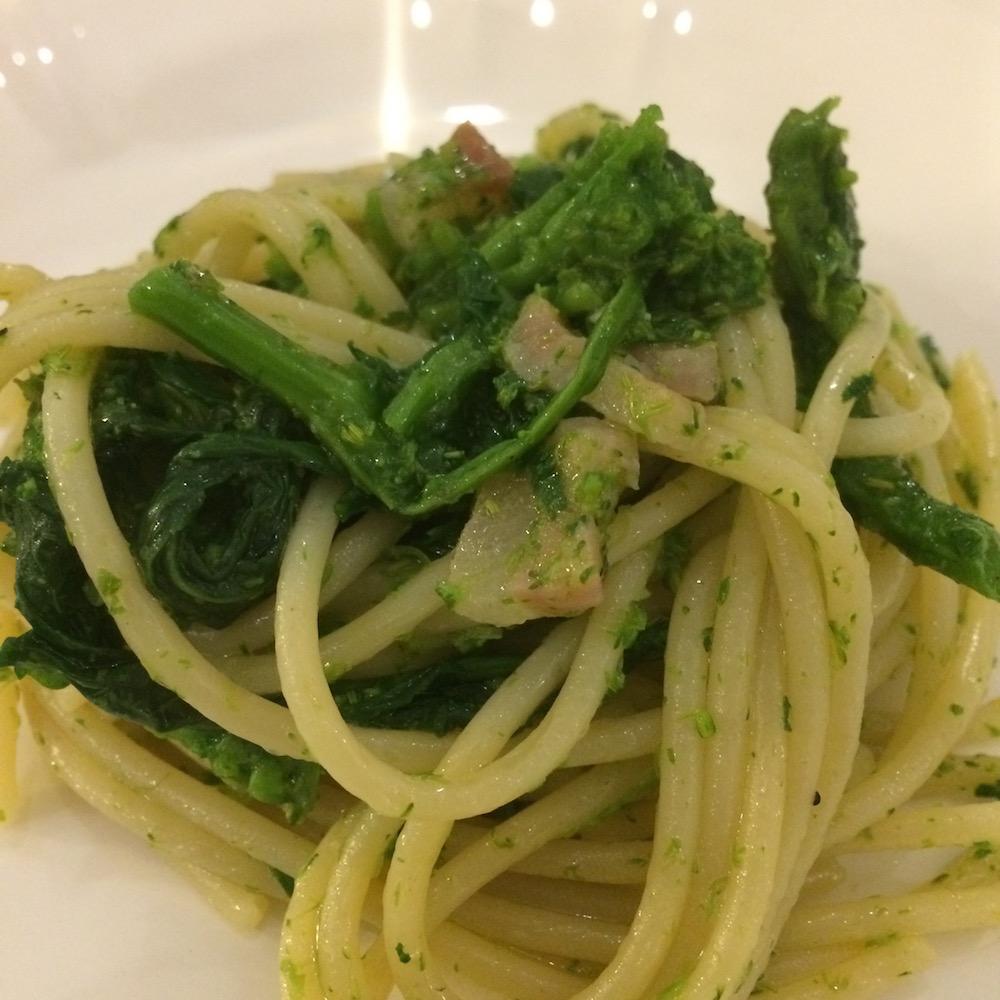 Antica Masseria Venditti, Spaghetti con cime di Rape
