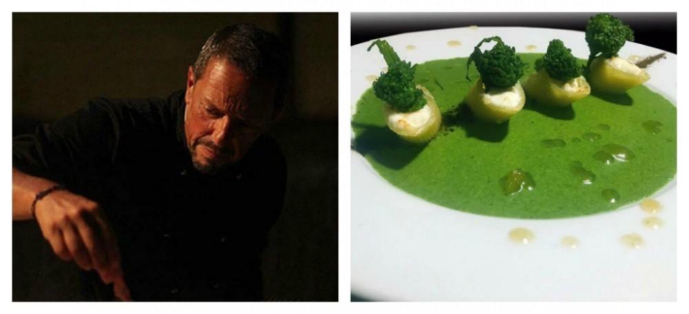 Broccolo Aprilatico di Paternopoli per il piatto di Carlo Olivari